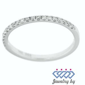 Solid Diamond Simple Stackable Band 14K White Gold